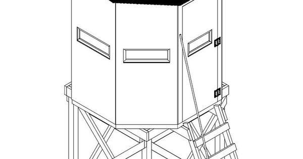 Illustration of an octagon deer blind plan woodworking for Octagon deer blind plans