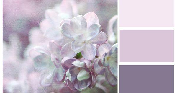 Lilac bedroom palette