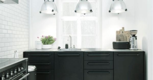 Ideen für eine schwarze Küche | Küchenzeilen, Moderne küche und ...