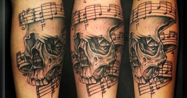Tattoo By Artist Greg Couvillier The Studio Tattoo Shop In Lafayette La Music Notes Too Black
