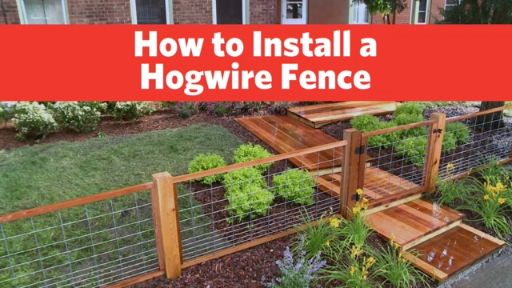 How To Install A Hog Wire Fence Hgtv Videos Pinterest