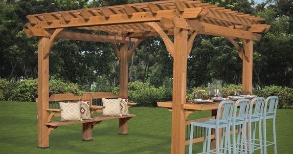 comment construire une pergola guide pratique et mod les diy pergolas backyard and patios. Black Bedroom Furniture Sets. Home Design Ideas