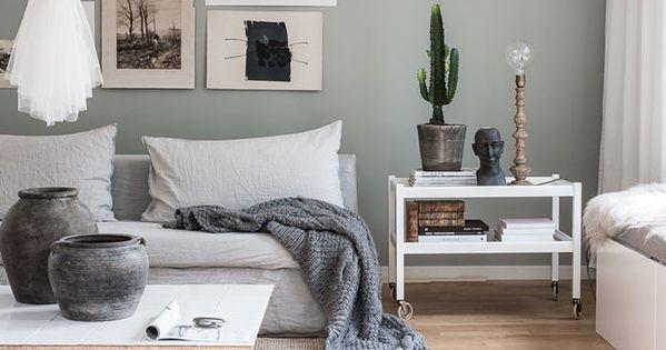 Hemma hos vår nya DIY-bloggare Helena Nord med bloggen Mormorsglamour  거실, 벽 ...