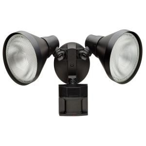 Defiant 110 Degree Black Motion Activated Outdoor Flood Light Dfi 5415 Bk Outdoor Security Lights Outdoor Flood Lights