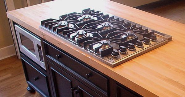 Wood Countertops With Undermount Or Overmount Sinks Stoves Gas