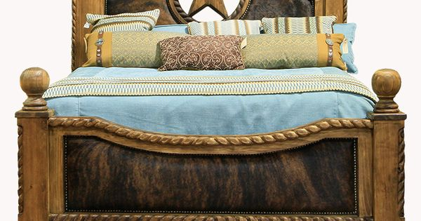 Rope Star And Cowhide King Bed Home Decor Pinterest King Beds Stars And Beds