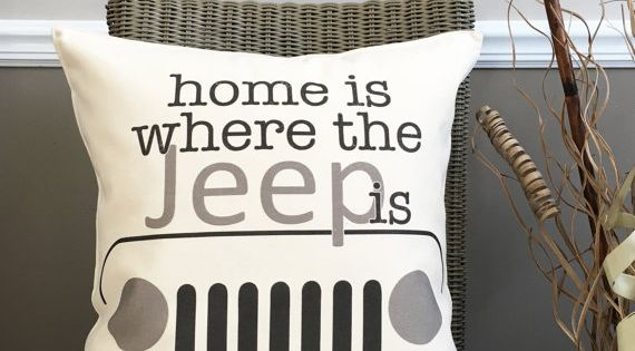 18 Home Is Where The Jeep Is Pillow Cotton Canvas