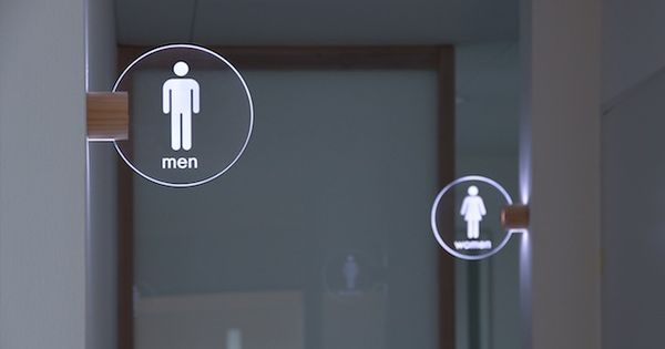 Led Toilet Lighting Sign Masahiro Minami Design