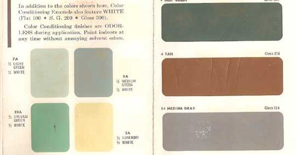 AUTHENTIC 1950s INTERIOR PAINT COLORS PopuluxeBooks
