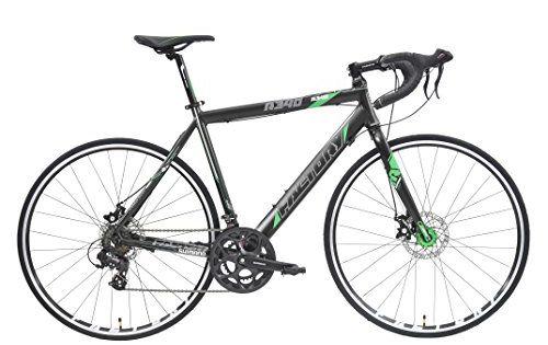 Factory R340 700c 14sp Road Bike Black Green Reflective 57cm