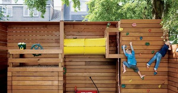 backyard play area for small yards -we have joked about turning the
