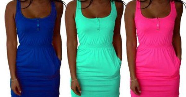 Dopasowana Sukienka Kieszenie Guziki Neon M200 6215383007 Oficjalne Archiwum Allegro Fashion Bodycon Dress Dresses
