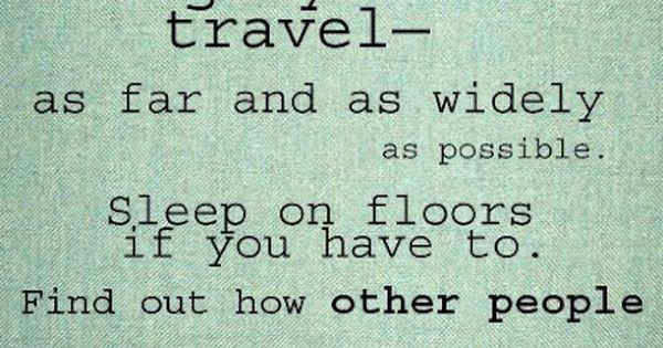 Words of wisdom from Anthony Bourdain