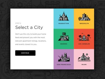 City Select City Select City Branding Landing Page Inspiration