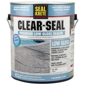 Seal Krete 1 Gal Clear Seal Low Gloss Sealer 365001 Concrete Sealer Garage Floor Epoxy Painted Concrete Floors