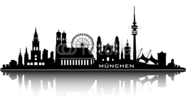 Munich Skyline Top Details Skyline Munchen Wimmelbild Skyline Hamburg
