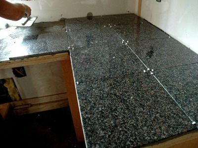 How To Install A Granite Tile Kitchen Countertop Diy Granite Countertops Tile Countertops Kitchen Granite Tile Countertops