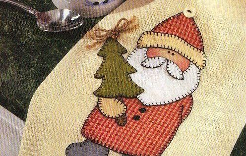 Pattern To Applique Santa Claus Tea Towel I Made These