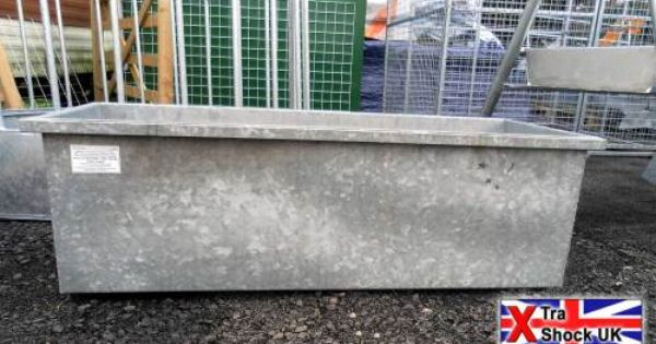 Galvanised Livestock Drinker Water Trough 10 Ft Cattle
