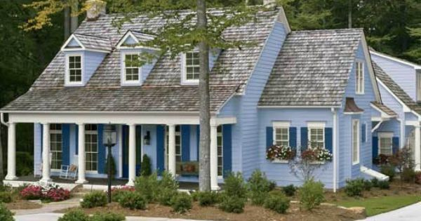 Beautiful Exterior Color Scheme Light Blue House Color