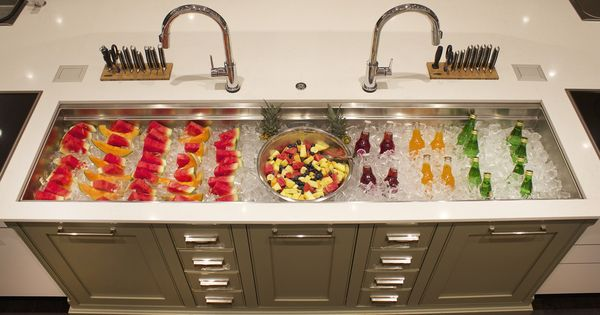 Galley sink iced buffet hello summer plumbing for Galley kitchen sink