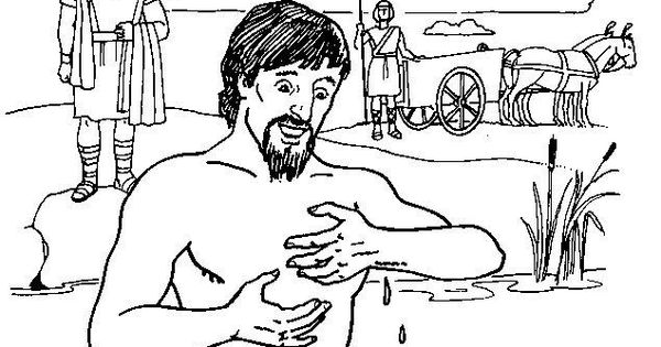 bible coloring pages naaman - photo#8