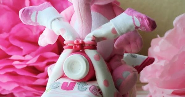 """DIY- how to make a motorcycle diaper """"cake"""". Great baby shower idea!!!"""