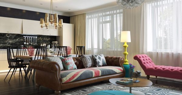 Modern living room - Modern Pop Art Interior by Dmitriy Schuka