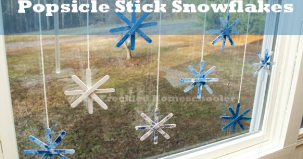 These Popsicle Stick Snowflakes are an easy and fun project for children.