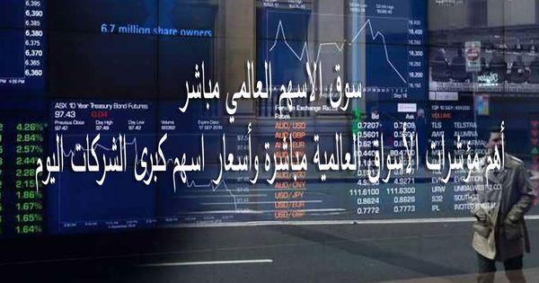 سوق الاسهم العالمي مباشر أهم مؤشرات الأسواق العالمية مباشرة وأسعار اسهم كبرى الشركات اليوم Cannon