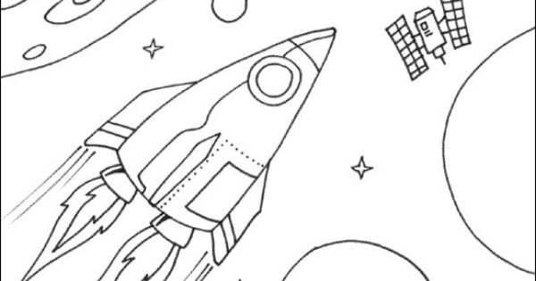 FREE Space-rocket-and-planets-coloring-page-for-kids