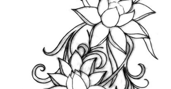 Lotus. Flower. Tattoo. A lotus represents a new beginning, or a hard