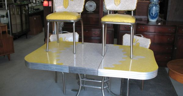 1950s vintage table and chairs 1950 s chrome and formica kitchen table kitchen design photos - Retro formica table and chairs ...