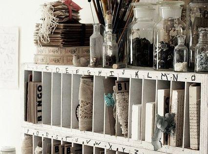 Art studio / craft room :) organized