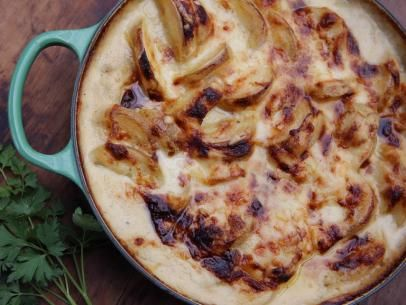 Cheesy Potato Gratin Recipe Food Network Recipes Potato Side Dishes Cheesy Potatoes