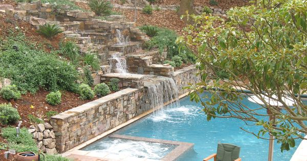 Swimming Pool Acts As Retaining Wall   Google Search | P O O L | G A R D E  N | Pinterest | Swimming Pools, Walls And Backyard
