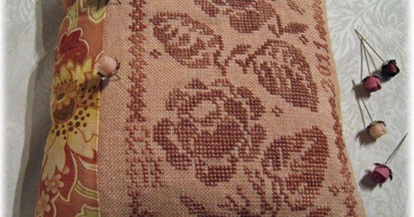 Rose garden by blackbird designs cross stitch for Blackbird designs strawberry garden
