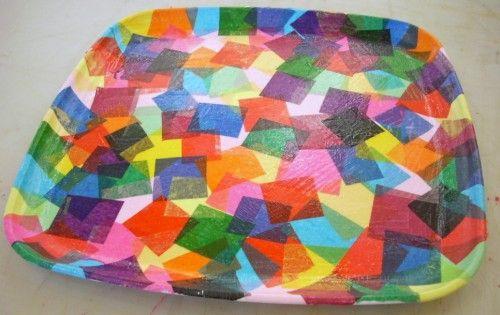 DIY Confetti Tray with Modge Podge & Tissue Paper!