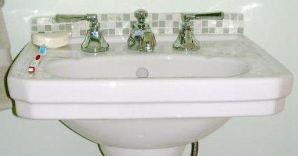 Pedestal Sink Backsplash : ... sink For the Home Pinterest Pedestal, Search and Pedestal sink