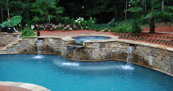 Attached Swimming Pool : Swimming pool options attached spa with spillover