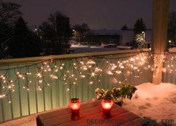 Decora Tu Hogar Con Luces Decorar Balcon Decoracion Navidad Balcones Luces De Navidad
