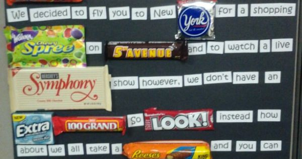 Happy Boss's Day Candy Bar Poster! :-) | My Pinterest ...