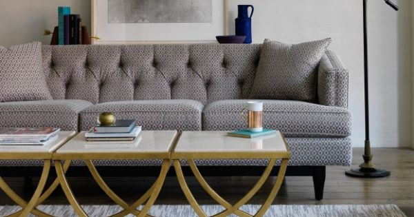 Hollywood Glamour Inspired Living Room. Coffee table and couch