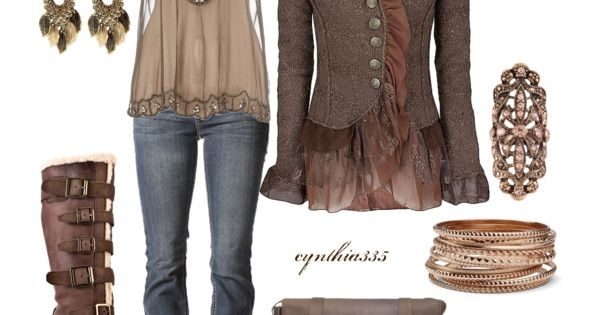 Elegant casual steam punk? check out that jacket.