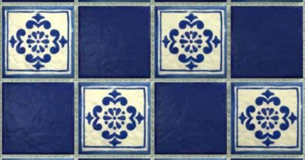 Lemog 3dtextures carrelage azuleros bleus 2 tiles for Carrelage auxerre