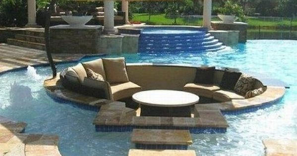 Dream Pool ~ Swimming Pool With Sunken Seating Area, Vanishing Edge and