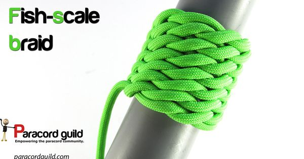Fish scale braid tutorial. | Paracord knots | Pinterest ...