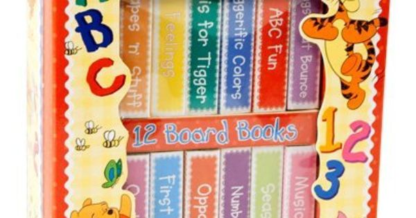 Disney Learn With Tigger Book Block Winnie The Pooh Set Of