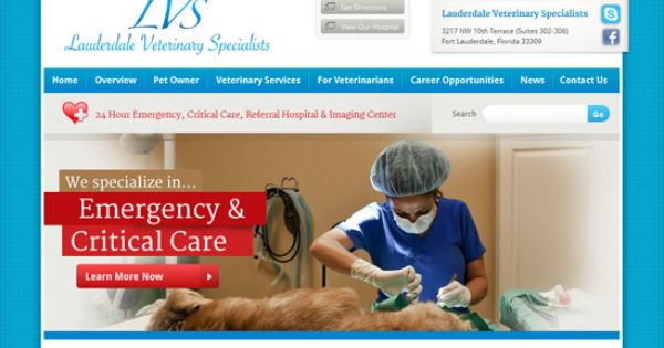 Lauderdale Veterinary Specialists With Images Veterinary Services Professional Web Design Wordpress Website Design