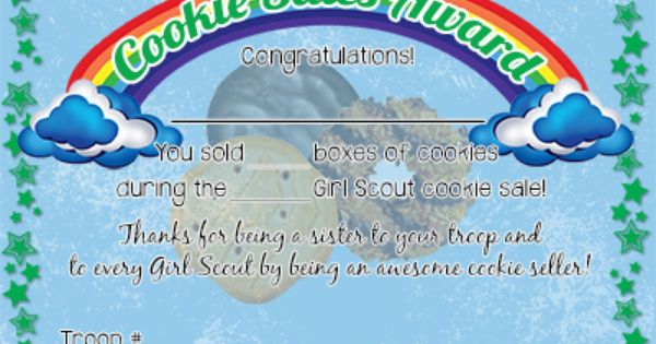 free girl scout printables cookie sales award certificate girl scouts pinterest free girl. Black Bedroom Furniture Sets. Home Design Ideas